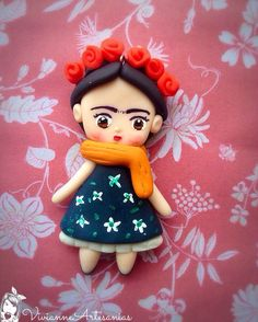 Frida Kahlo porcelana fría jewely biscuit masa flexible