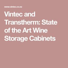 Vintec and Transtherm: State of the Art Wine Storage Cabinets