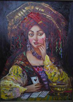 Байрам Саламов Tarot, Queen Of Spades, Fortune Teller, State Art, Magick, Art Gallery, Psychics, Artist, Artwork