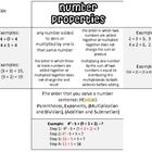 Make this foldable with your students as a way to teach them about number properites and order of operations. This foldable can be cut out and glue...