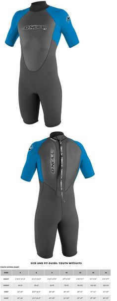 Youth 47355: O Neill Reactor 2Mm Spring Wetsuit - Youth - Graphite Bright Blue - 6 -> BUY IT NOW ONLY: $69.99 on eBay!