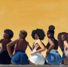Black Girls R Pretty 2 - afrodesiacworldwide: Black Love Art, Black Girl Art, My Black Is Beautiful, Black Girls Rock, Black Girl Magic, Art Girl, African American Art, African Art, Baile Hip Hop