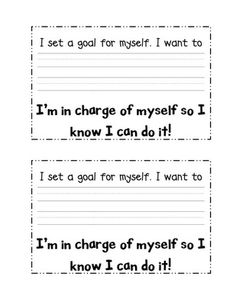 Student goal setting ideas.