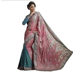 Pink Embroidered Fashion Sari Fancy Designer Cocktail Saree Indian Dress Attire | eBay