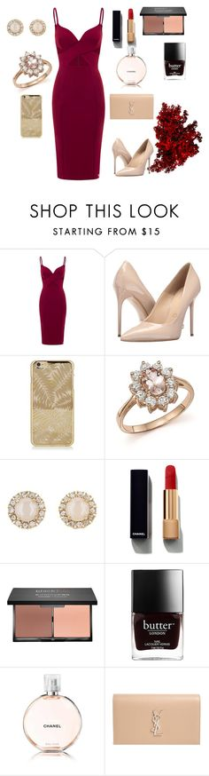 """""""Untitled #36"""" by nina16latinoamericana ❤ liked on Polyvore featuring Massimo Matteo, Bloomingdale's, Kate Spade, Chanel, blacklUp and Yves Saint Laurent"""