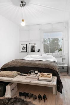 the cozy space Home Bedroom, Modern Bedroom, Bedroom Decor, Monochrome Bedroom, Stylish Bedroom, Minimalist Bedroom, Dream Decor, Living Spaces, Sweet Home