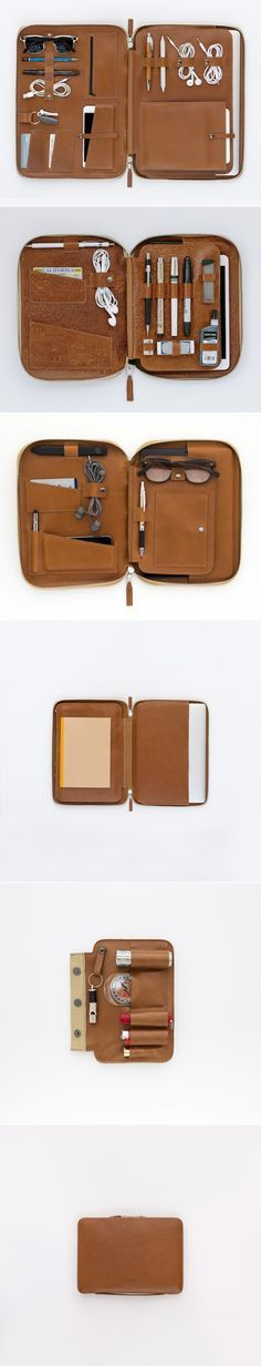 We've taken the same modular system that was originally developed for the Mod Tablet and applied it to the Mod Laptop. The case uses our signature toffee primo leather. The inside pockets and slots were designed to hold all your creative gear as the perfect mobile office. The case's leather will age & mold nicely based on what & how you carry - making your Mod uniquely yours. Here are a few of the things you can stow: