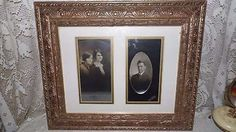 Antique Photos Relatives Family Gold Ornate Wood Frame by FabulousFinds1 on Etsy