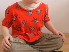 tričko T Shirt Tutorial, Baby Sewing, Floral Tops, Knitting, Sweatshirts, Children, Boys, Sweaters, Women
