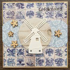 LindaCrea: Ik Hou van Holland #3 Window Cards, Stamping Up Cards, Marianne Design, I Card, Kids Rugs, Scrapbook, Rustic, Windmills, Inspiration