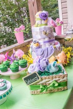 Fantastic garden baby shower party! See more party planning ideas at CatchMyParty.com!