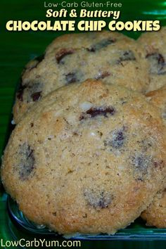 If you prefer soft buttery keto cookies, these gluten free low carb chocolate chip cookies are sure to satisfy. They tastes very close to the real thing.