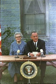 President Lyndon B. Johnson at the signing ceremony of the Elementary and Secondary Education Act.