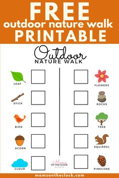 FREE Printable - Activity for KIDS - Outdoor nature walk treasure hunt - Kid Activities Free. Are you quarantined? Everything closed? We have a perfect activity to do during spring break or when there Outdoor Scavenger Hunts, Nature Scavenger Hunts, Scavenger Hunt For Kids, Printable Activities For Kids, Home Activities, Spring Activities, Summer Free Printables, Kids Outdoor Activities, Preschool Schedule