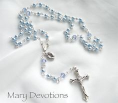 Infant Boy Baptismal Rosary by MaryDevotions on Etsy