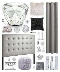 """Glow"" by belenloperfido ❤ liked on Polyvore featuring interior, interiors, interior design, home, home decor, interior decorating, Pier 1 Imports, Prada, CB2 and Sun Zero"