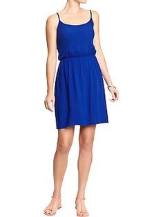 Womens Poplin-Crepe Sundresses, MAW blue dress?