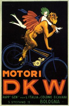 """Motori DKV"" Poster by Luciano Achille Mauzan (1914)"