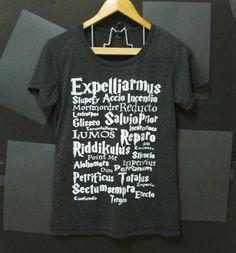 Magic message Harry Potter TSHIRT BLACK movie women teen size S,M,L plus size Crewneck tees ladies blouse by Cute classic shop