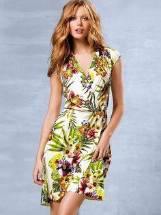 Victoria's Secret Floral-print Kimono Dress on shopstyle.com