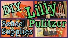 DIY LILLY PULITZER SCHOOL SUPPLIES Back To School Highschool, Diy Back To School, School School, School Daze, Middle School, High School, College School Supplies, Back To School Supplies, College Life