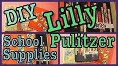 DIY LILLY PULITZER SCHOOL SUPPLIES