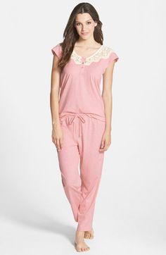 Carole Hochman Designs 'Heathered Fields' Capris Pajamas available at Couple Pajamas, Night Suit, Pajama Outfits, Matching Pajamas, Pajamas Women, Nightwear, Lounge Wear, Nordstrom, Clothes For Women