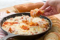 Skillet Chicken Parmesan Dip  - Delish.com
