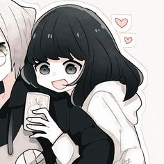 Cute Anime Profile Pictures, Cute Anime Pics, Anime Love, Anime Guys, Friend Anime, Anime Best Friends, Arte Punk, Anime Girl Pink, Cute Anime Coupes