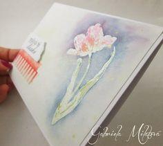 Gabi M. craftuje: CARDS Love Tulip Salmon Card & Little Tutorial