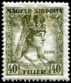 Stamps of Hungary issued during the reign of King Charles IV