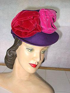 Vintage 1940s Tilt hat New York Creation purple by bonitalouise, $110.00