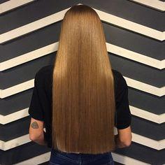 One Length Hair, Waist Length Hair, Face Shape Hairstyles, Straight Hairstyles, Short Haircuts, Easy Hairstyles, Silky Hair, Smooth Hair, Blunt Haircut