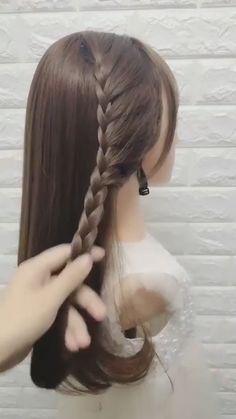 Open Hair Hairstyles, Cute Braided Hairstyles, Wedding Hairstyles Tutorial, Cute Hairstyles For Medium Hair, Bride Hairstyles, Headband Hairstyles, Medium Hair Styles, Long Hair Styles, Medium Hair Braids