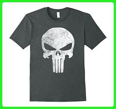 e0a8ceda Mens Marvel Punisher Skull Symbol Distressed Graphic T-Shirt C1 2XL Dark  Heather - Superheroes