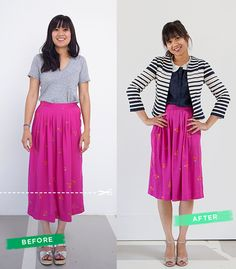 How to Make Vintage Work for You / Before & After Pink Skirt