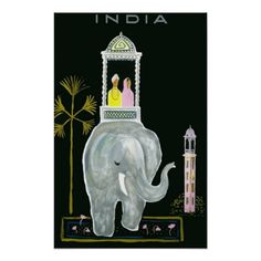 Visit Travel Poster, India.