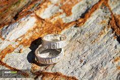 Rings on granite wedding rings