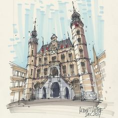 Merry Christmas everybody!!! Thank you for all your support and responses ❤️✨ Old City Hall, Venlo #sketching #fineliner #urbansketchers #archisketcher #architecture #windsorandnewton #copic #sketchaday #moleskineart #moleskine #citybranding #sketching #sketch_daily #sketchbook #sketch #shoutout4shoutout