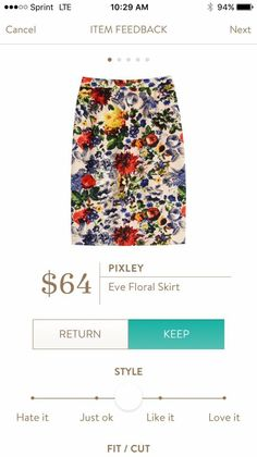 Pixley   Eve Floral Skirt -- this is not my normal style at all, but I kind of really love it. Would look great with that white peplum top, too!