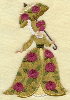 Umbrella Girl - Rose Blossoms