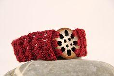 Armband gehäkelt marsala