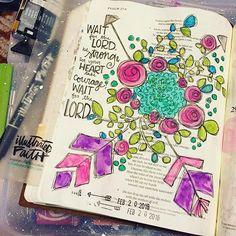 Bible Journaling by Lynzee Lucas @lynzeebrooke   Psalm 27