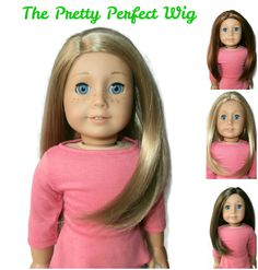 Our Pretty Perfect girl doll wig is pretty much perfect for American Girl Dolls!