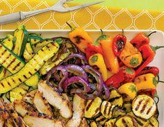 Grilled Vegetables & Chicken Breast
