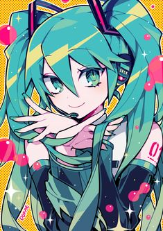 Pin by xuân^^ on hatsune miku (○>ω<○) Kawaii Anime, Chica Anime Manga, Kawaii Art, Cartoon Kunst, Cartoon Art, Anime Art Girl, Manga Art, Anime Girls, Vocaloid Characters