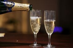 Yum! Champagne! Good thing it's almost New Year's. What's your favorite sparkling wine?