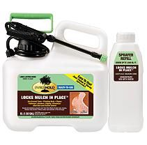 EnviroHold Mulch Glue keeps mulch and other ground covers looking new and in place all season long. Easy to use; Shake, Pump and Spray!