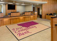 First Community Bank Logo Rug