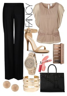 beige office wear by sixfireab on Polyvore featuring polyvore fashion style Vero Moda STELLA McCARTNEY Yves Saint Laurent Citizen Boohoo Carolina Bucci Urban Decay Avon clothing
